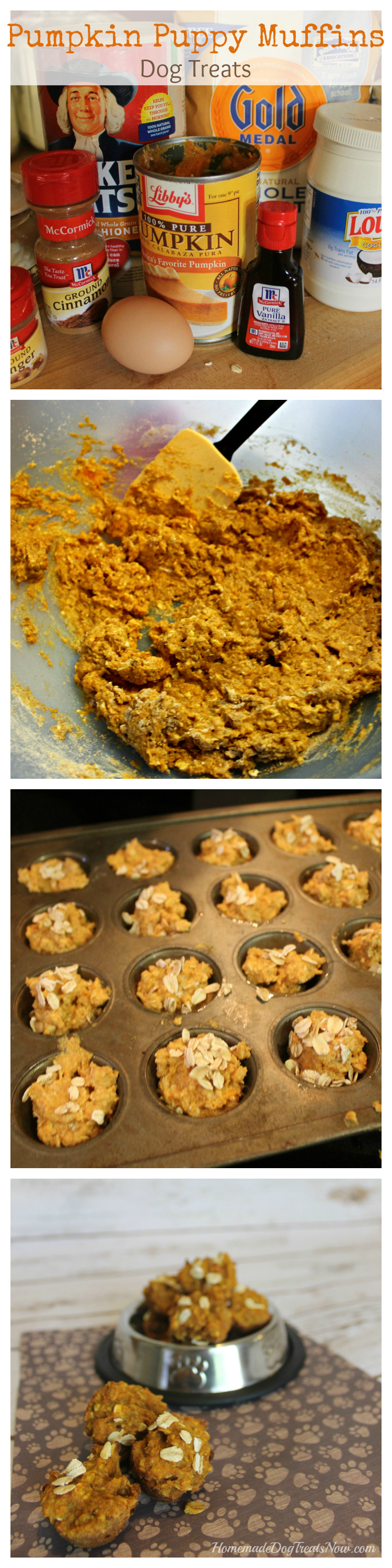 Pumpkin Puppy Muffins Dog Treats